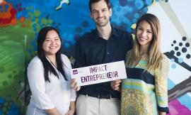 The three founders of Impact Hub Manila (from left to right): Ces Rondario, Mathias Jaeggi and LizAn Kuster